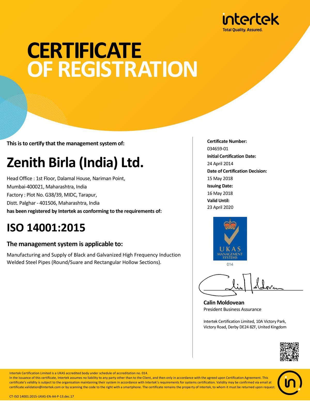 Zenith Birla (India) Limited